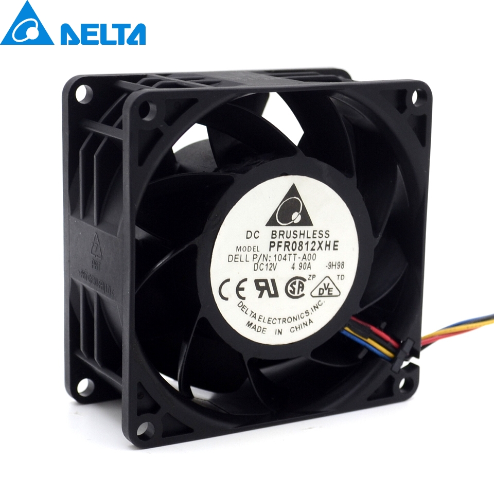 1pcs Original 8038 dc12v 8cm super car booster violent fan 4.9A PFR0812XHE 13000 for Delta 80*80*38mm