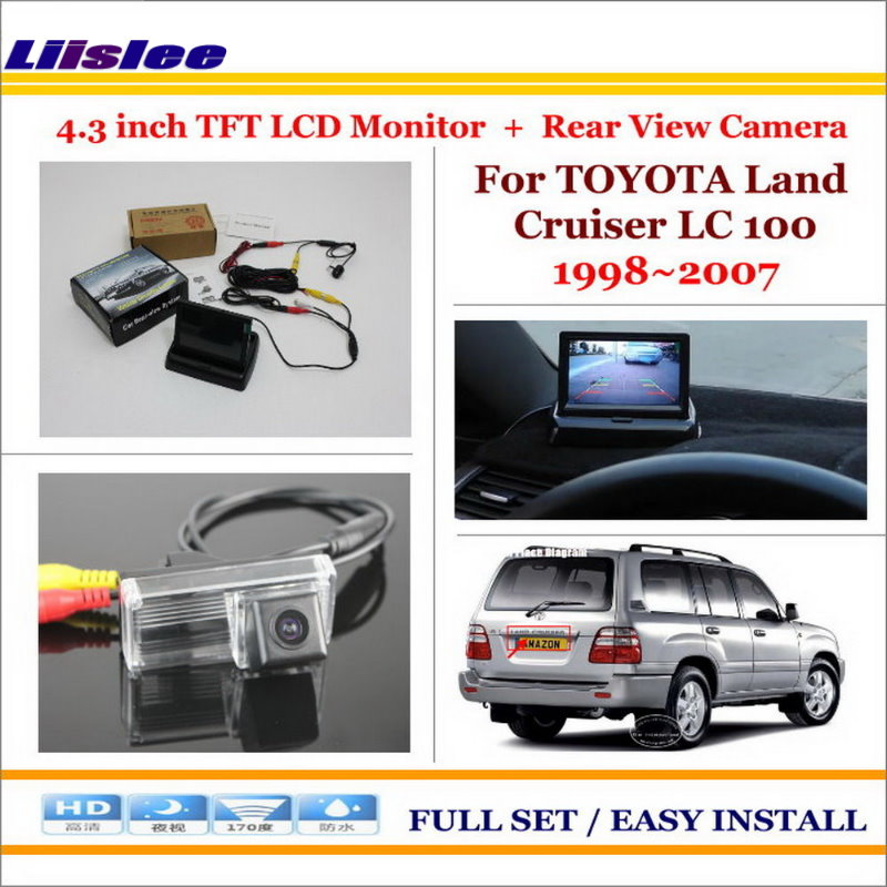 "Liislee Voor Toyota Land Cruiser Lc 100 Lc100 1998 ~ 2007-auto Achteruitrijcamera + 4.3 ""tft Lcd Monitor = 2 In 1 Back Up Parking Systeem Shrink-Proof"
