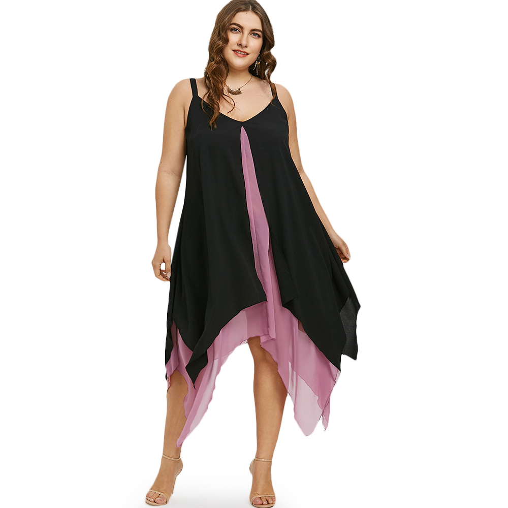 Flight Tracker Wipalo Frauen Sommer Strand Kleider Plus Größe 5xl Taschentuch Saum Flyaway A-line Mittler-kalb Kleid Ärmelloses Weibliches V-ausschnitt Vestidos Herrenbekleidung & Zubehör