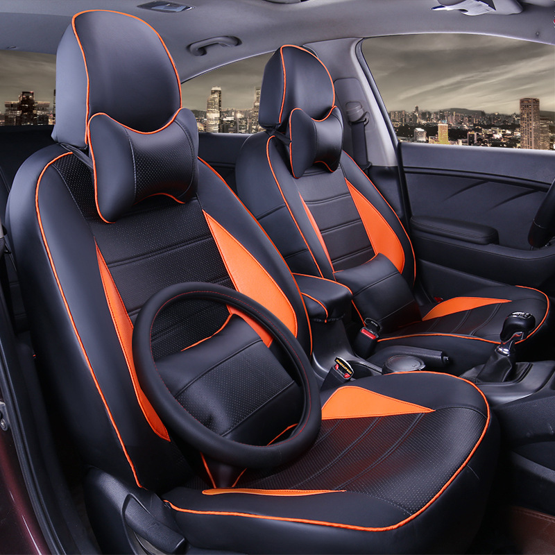TO YOUR TASTE auto accessories custom luxury leather new orange car seat covers for TOYOTA HIACE COASTER Sienna Cruiser Solara