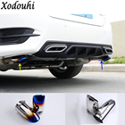Car cover muffler exterior end pipe dedicate stainless steel exhaust tip tail outlet For Honda Civic 10th Sedan 2016 2017 2018