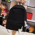 New fresh partysu style pure candy color canvas women backpack college student school book bag leisure backpack