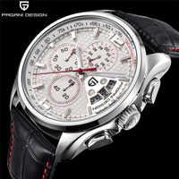 Homens relógios de quartzo pagani design marcas de luxo moda cronometrado movimento militar relógios de quartzo de couro relogio masculino