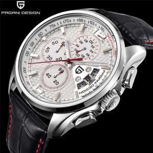 Image 1 - 男性クォーツ腕時計パガーニデザインの高級ブランドファッション時限マルチファンクションダイブ革クォーツ時計レロジオmasculino