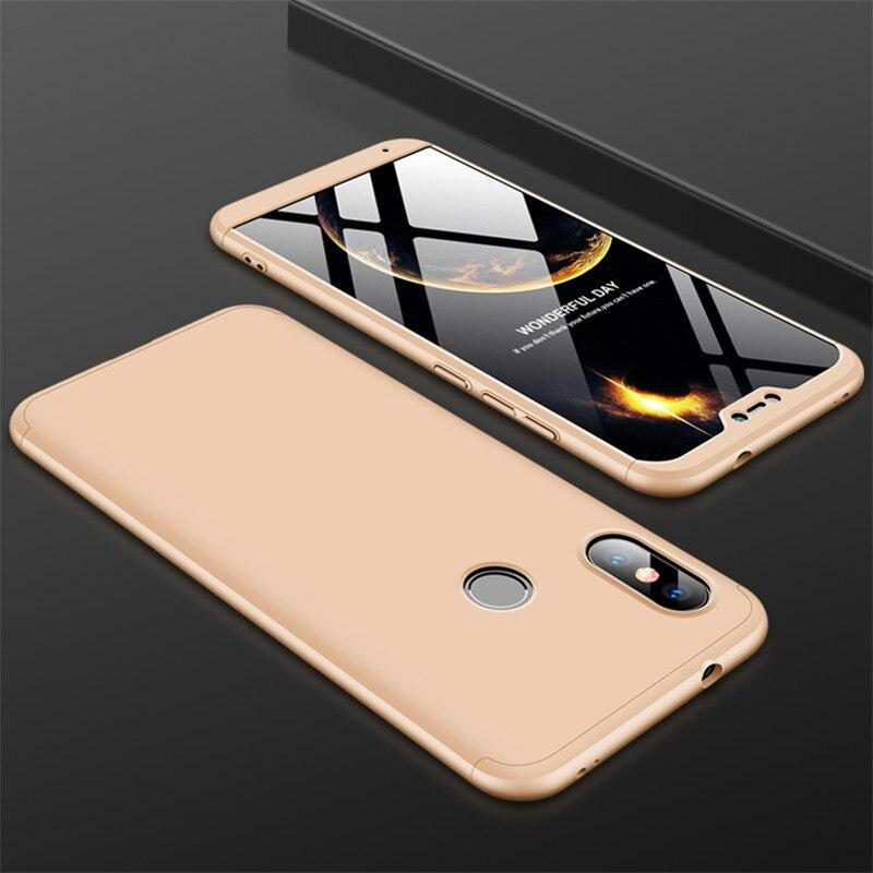 HTB1I8KRXyYrK1Rjy0Fdq6ACvVXaE 3-in-1 Case 360 for Xiaomi Mi A2 A3 lite Mi A2 A1 Phone Case Hard for Xiaomi Mi A1 A2 A3 Cover Tempered Glass Case Fully Cover
