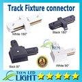 Levou faixa Light Rail conector para fios Right Angle Horizontal comercial luminárias de pista acessórios de alumínio