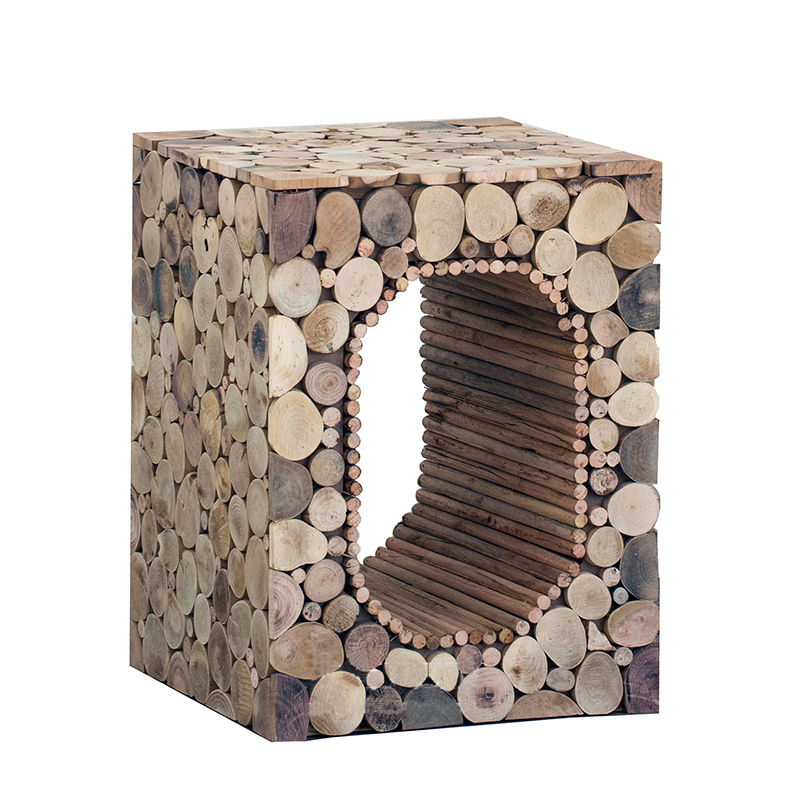 Created Living Room Stool End Table New Art Brief Solid Wood Coffee Table