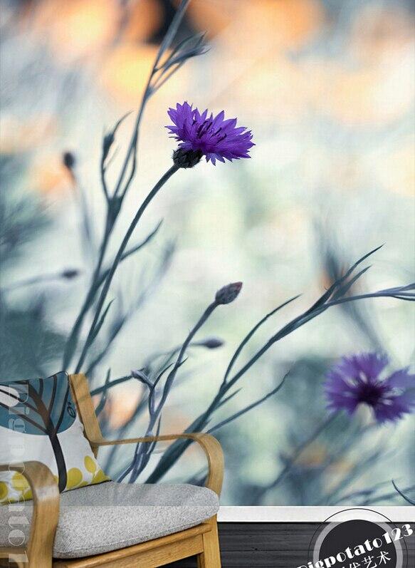 Mural Grande 3d Personalizado Hermoso Sueno Flores De Clavel
