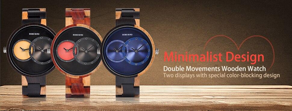relogio masculino BOBO BIRD Wood Watch Men Top Brand Luxury Wooden Timepieces Great Men's Gift Drop Shipping W-D27 1