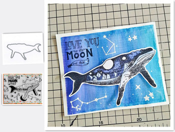 Whale Animal Metal Cutting Dies and Stamps SScrapbooking Craft Dies Stencil Album Embossing Card Making Die Cut Dies New 2020