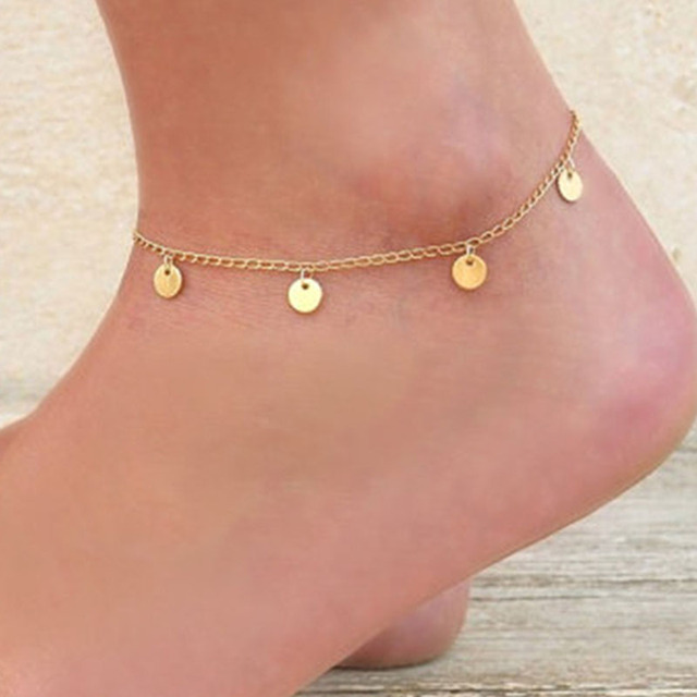 gold and pin bracelet dainty anklet foot delicate jewellery ankle charms layering jewelry star