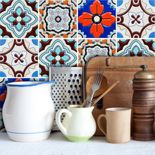 Funlife Cafe Bathroom Home Decor Wall Stickers Creative Turkish Style Tiles Stickers Living Room Kitchen Wall Stickers TS031