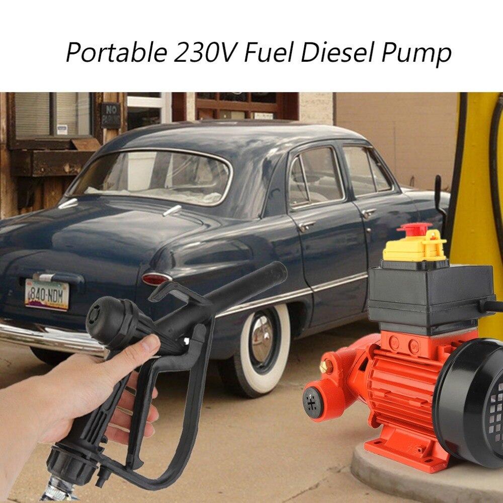 Portable 230 v Carburant Diesel Pompe de Transfert Machine Électrique Auto-amorçage Diesel Pompe Avec Support De Montage Pas Mobile Type