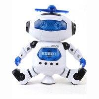 Venta caliente Electronic Caminar Baile Elegante Espacio Astronauta Robot Niños Música Ligera Juguetes Regalo Para Los Niños