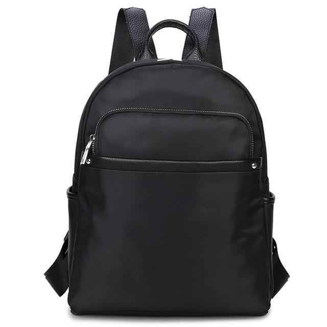 aade8a270a 2017 Black Girls Laptop Backpacks Leather Female Backpacks School Bags For Teenagers  Girls Notebook Waterproof Women Backpacks