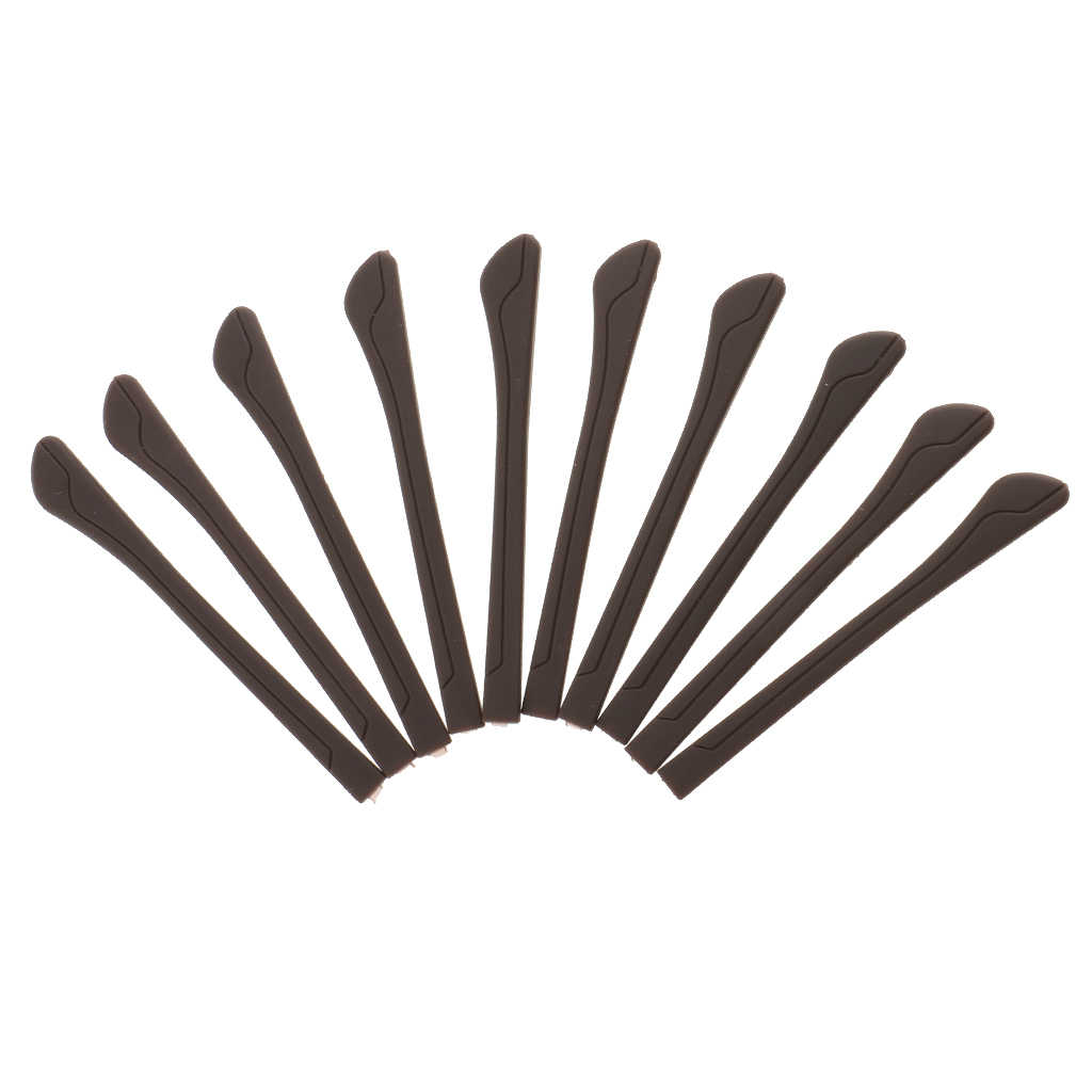 5 คู่ PVC แว่นตาแว่นตาวัดครอบคลุม End เคล็ดลับหูถุงเท้าชิ้นเปลี่ยนหรือเกือบแว่นตา