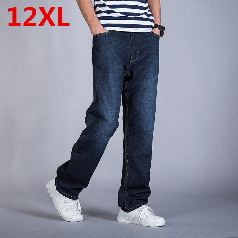 2017 new Autumn And Winter  Plus Size 9XL 8XL 7XL 6XL 5XL Jeans  blue Denim Business Jean Relax Business Work Trousers Pants смартфон highscreen fest xl pro blue