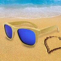 Natural Bamboo Sunglasses Vintage Men Women Handmade Sun Eyewear Brand Designer Original Wood Polarized Glasses New