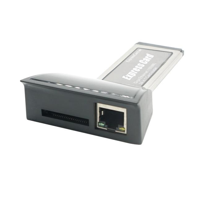 Высокая Скорость ноутбук Expresscard к gibabit сетевой карты express Ethernet сетевой карты 34 мм 1000 м 24 в 1 card reader