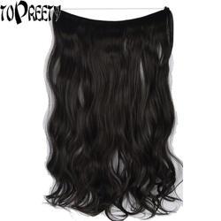 """TOPREETY термостойкие B5 волосы из синтетического волокна 20 """"50 см 80gr тела волна эластичность невидимый провод наращивание волос Halo"""