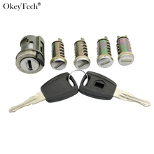 Okeytech New Ignition Switch Lock Barrel For Fiat Ducato Peugeot Boxer Citroen Relay Jumper Brand Car Door Lock Cylinder New