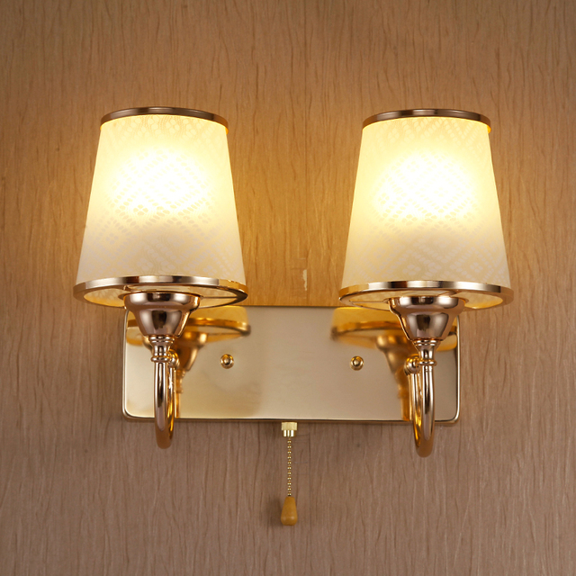 Bedside bedside special offer led light golden wall quality fashion modern double bedroom wall lamp bracket