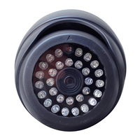 4 PCS Indoor Outdoor CCTV Fake Dummy Dome Security Camera Home Surveillance Camera With 30 Red
