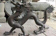 36 «Народная Китайский Фэншуй Бронза Медь Зодиак Год Дракона JiXiang Животных Статуя