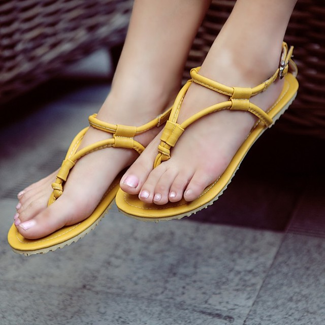 fcc1653a6458 China Direct hot days yards fashion simple solid color strap thong sandals  lady flat feet shoes