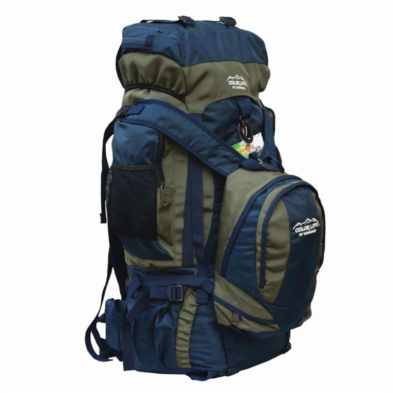 80L походный рюкзак для кемпинга, для спорта на открытом воздухе, большая емкость, сумки для альпинизма, рюкзак для путешествий, сумка для верховой езды, рыбалки - 2