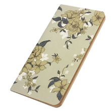 Affordable Gray Leather Vintage Flora Leaves Cover Diary Notebook Gift