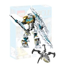 BIONICLE series 708-2 KOPAKA Master of ICE action figure Building Block brick toys Compatible Legoings 70787 70788 70789 70790