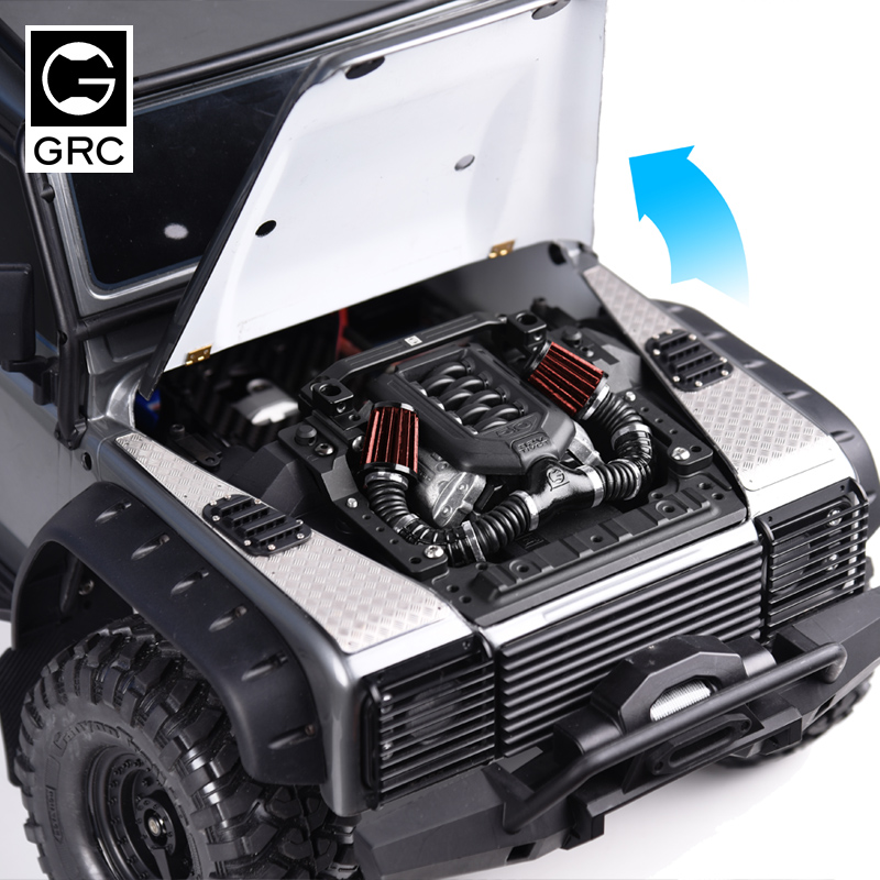 1/10 TRX4 Bootable Cover Kit Engine Compartment Bracket Machine Cover Hinge Magnet Car Shell Column For Traxxas TRX-4 Defender