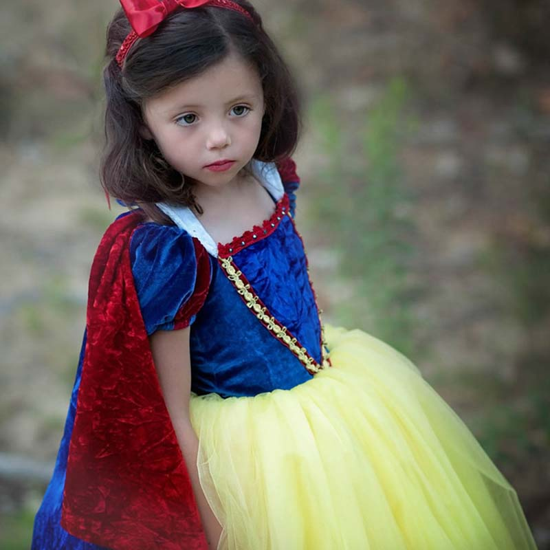 Customize Kids Girl princess sofia dress for baby girls snow White Cosplay Costume children Carnival party tutu dresses D044 2017 girl witch dress hat cap princess party dresses tutu baby kids children clothing carnival halloween cosplay costume