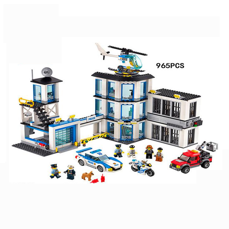 02020 City Series The New Police Station Set children Educational Lepin Building Blocks Bricks Toy Model Gift LegoINGly 60141 lepin 02006 815pcs city series police sea prison island model building blocks bricks toys for children gift 60130