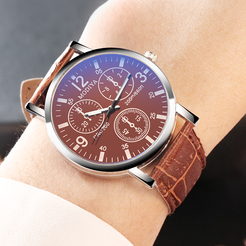 2019 Army Military Sport Analog Quartz Wrist Watch Fashion Leather Men Watches Casual Male Clock Wristwathes Relogio Masculino