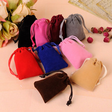 100Pcs/Lot 5x7cm Jewelry Packing Velvet Bag Drawstring & Pouches Jewelry/Candy Bags Dropshipping