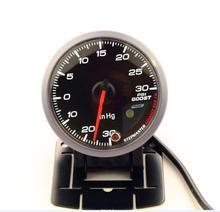 DRAGON GAUGE 60MM Boost Turbo Gauge -30-30 PSI Black Color With Sensor Dual Led Color Display