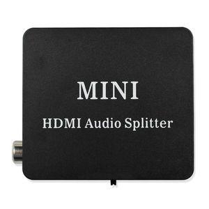 Image 1 - HDMI к HDMI Оптический SPDIF HDMI к HDMI + аудио сплиттер, Suppport 5,1 + RCA L/R аудио видео экстрактор конвертер сплиттер адаптер