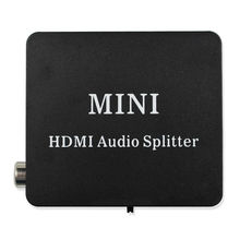 High Quality HDMI to HDMI Optical SPDIF Suppport 5.1 + RCA L/R Audio Video Extractor Converter Splitter Adapter high quality hdmi video wall controller 2x2 processor splitter hdmi