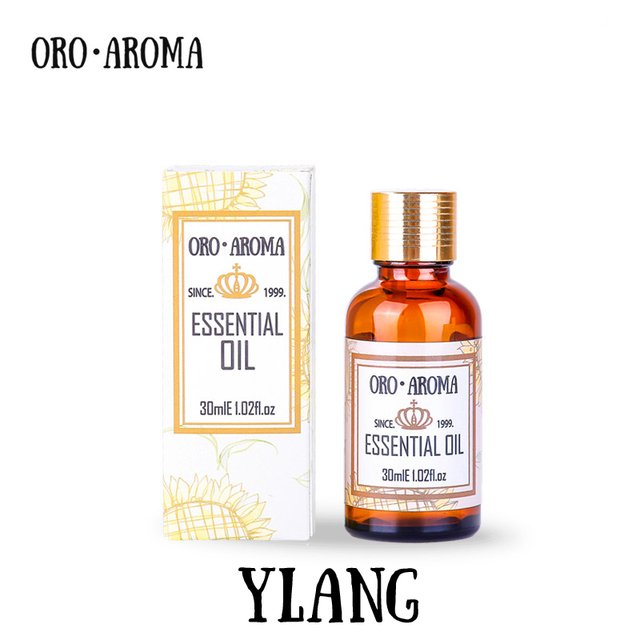 Famous brand oroaroma free shipping natural aromatherapy Ylang ylang essential oil Aphrodisiac effect Relax Skin care Ylang oil