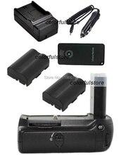 Poder Vertical Shutter Batería Grip Soporte Para Nikon D80 D90 Cámara RÉFLEX como MB-D80 MBD80 + IR Remote + 2 x EN-EL3e + Cargador de Coche