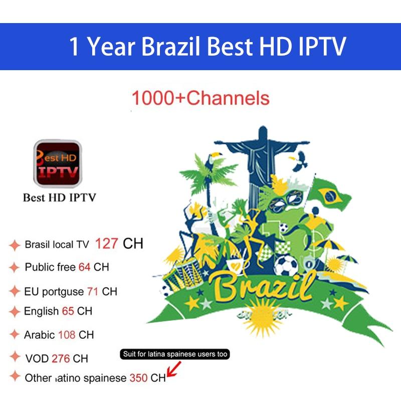 1 year 1200+Channels Brazil IPTV Brasil iptv code Support Android tv box fast&stable Brasil IPTV 900+live TV provide testing