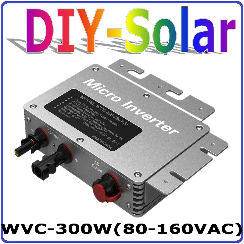 300W Grid Tie Inverter with 6-grade MPPT Function, 22-50VDC to 80-160VAC or 180-260VAC Micro Grid Tie Power Inverter 300W IP65 22 50v dc to ac110v or 220v waterproof 1200w grid tie mppt micro inverter with wireless communication function for 36v pv system