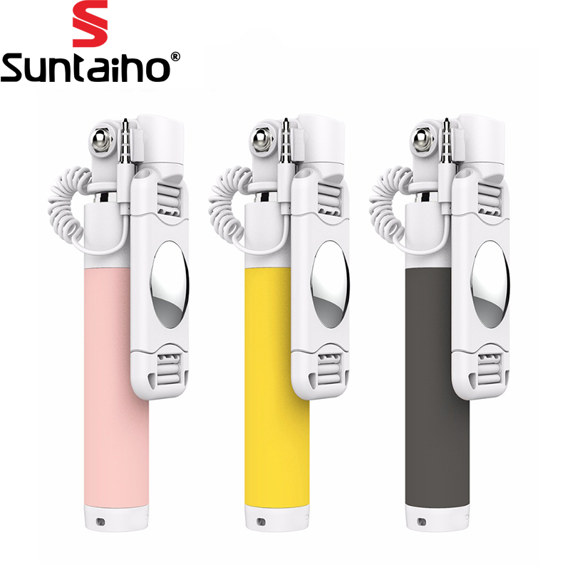 universal luxury mini selfie stick monopod for iphone samsung android ios wired palo selfie. Black Bedroom Furniture Sets. Home Design Ideas