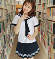 2016 hot Japan Korean School Uniforms Student Uniforms Sets and Tie Lovely Girls Sailor Uniforms Students Performing Uniforms