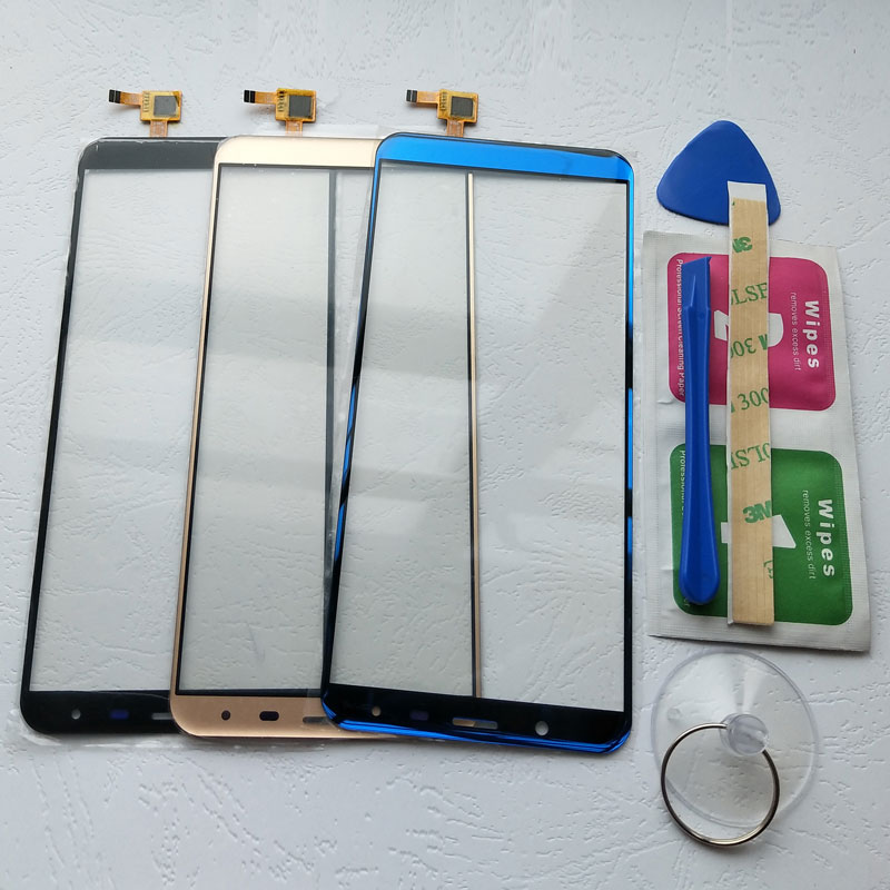 BINYEAE 5.7''Touch <font><b>Screen</b></font> For <font><b>Oukitel</b></font> <font><b>K5000</b></font> Digitizer Touch Panel Glass Lens Sensor Free Tools+Adhesive image