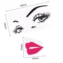 TIE LER Sexy Girl Lip Eyes Wall Stickers Living Bedroom Decoration DIY Vinyl Decals Art Poster Home Decor