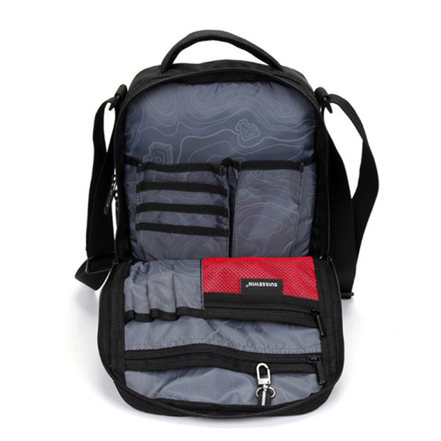 Swiss Shoulder Bag Leisure Briefcase Small Messenger Bag for 9.7 4