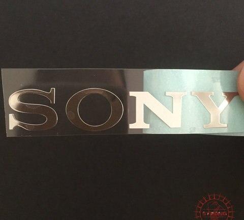 adesivos dourados para sony frete gratis 19x3mm 10 pcs lote frete gratis marca de logotipo
